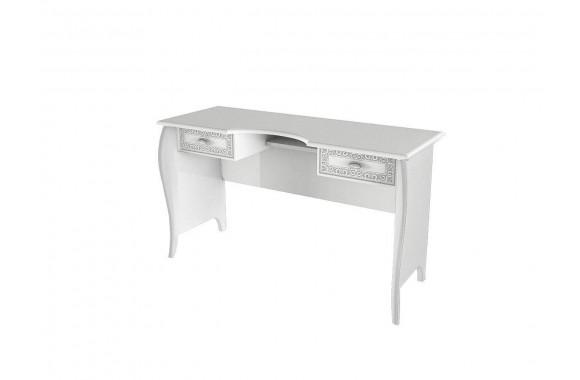Туалетный столик подсветкойВинтаж в цвете Белый глянец
