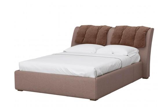 Мягкая кровать с ящиком и ПМ Моника (161х201)