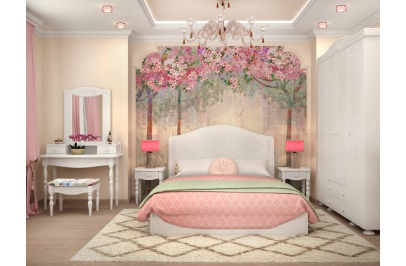 Спальные гарнитур Ассоль в цвете Белый