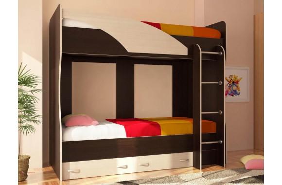Детская кровать с ящиками Двухъярусная Мийа