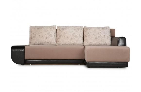 Кожаный диван Угловой Поло (Нью-Йорк) Правый