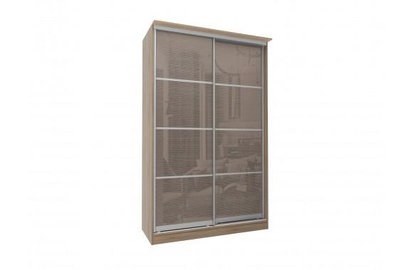 Шкаф-купе 2-х дверный с зеркалами Байкал